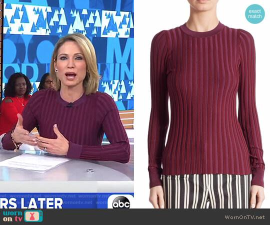 'Reagan' Sweater by Altuzarra worn by Amy Robach  on Good Morning America