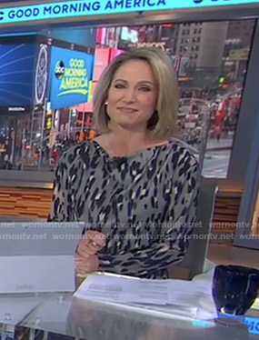 Amy's grey leopard dress on Good Morning America