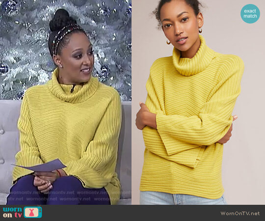 'Tisbury' Pullover by Anthropologie worn by Tamera Mowry  on The Real