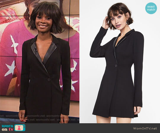 Blazer Dress by BCBGeneration worn by Zuri Hall on E! News