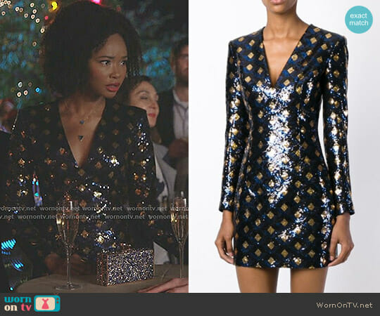 Sequin Dress by Balmain worn by Wakeema Hollis on Dynasty