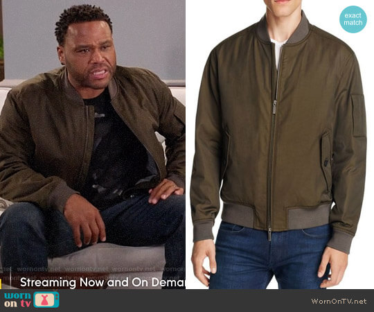 BOSS Bomber Jacket worn by Anthony Anderson on Blackish