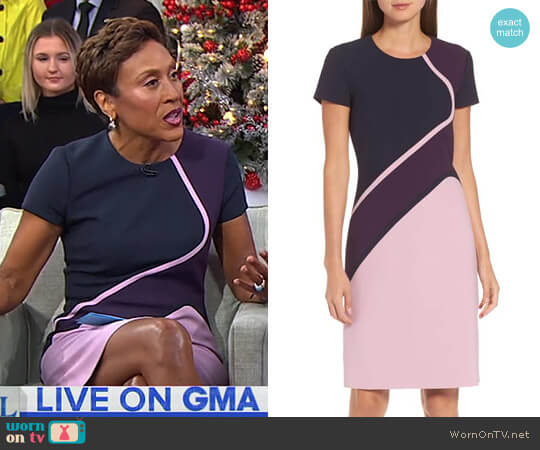 'Dukatia' Dress by BOSS worn by Robin Roberts on Good Morning America
