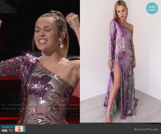 Christahlea SS18 Embellished Gown  worn by Miley Cyrus on The Voice