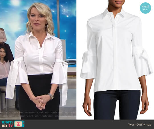 Carolina Herrera Tie-Sleeve Poplin Shirt worn by Megyn Kelly on Today