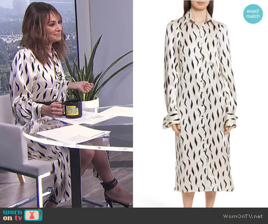 'Cassidy' Dress by Joseph worn by Catt Sadler on E! News
