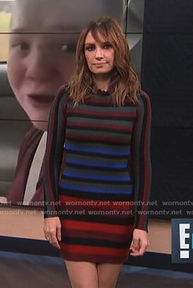 Catt's multi-color striped mini dress on E! News