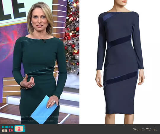 'Janette' Dress by Chiara Boni La Petite Robe worn by Amy Robach on Good Morning America