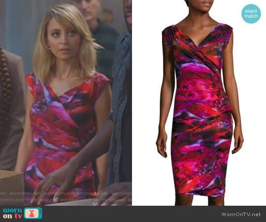Printed Cap-Sleeve Dress by Chiara Boni La Petite Robe worn by Nicole Richie on Great News