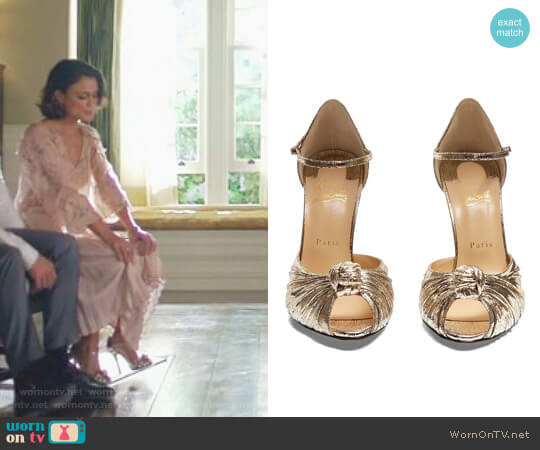 'Marchavekel' Sandals by Christian Louboutin worn by Nathalie Kelley on Dynasty
