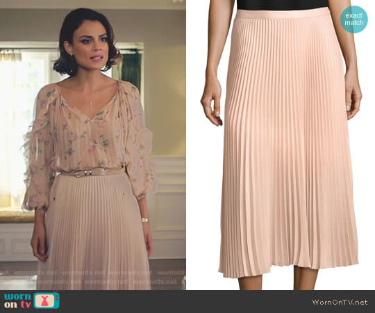 'Annina' Skirt by Club Monaco worn by Nathalie Kelley on Dynasty