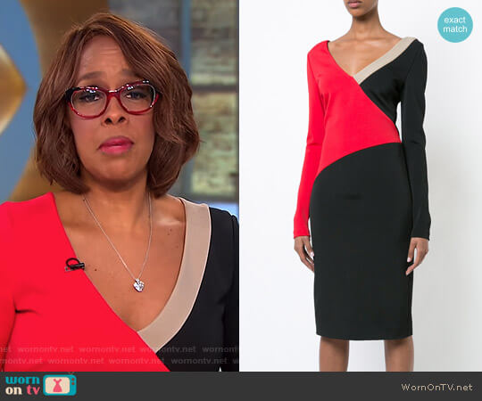 Colourblocked Dress by Diane von Furstenberg worn by Gayle King on CBS This Morning
