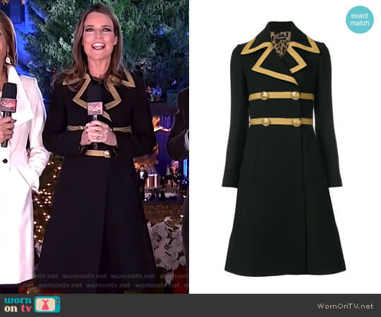 Military Coat by Dolce & Gabbana worn by Savannah Guthrie  on Today