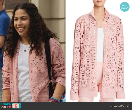 Eyelet Lace Jacket by Fenty by Rihanna worn by Molly Hernandez (Allegra Acosta) on Marvels Runaways