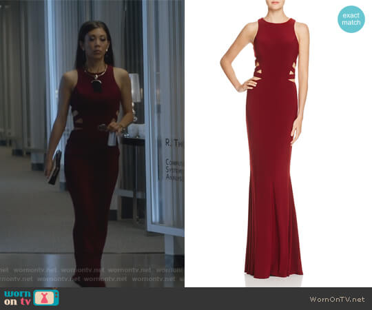Strappy Cutout Gown by Faviana Couture worn by Brittany Ishibashi on Marvels Runaways