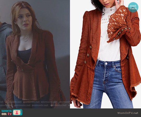Flared Sleeve Blazer by Free People worn by Elena Satine on The Gifted
