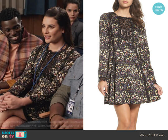 Hallie Fit & Flare Dress by French Connection worn by Lea Michele on The Mayor
