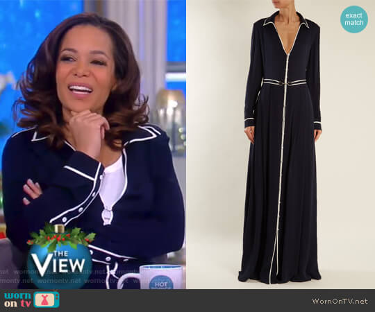 Lempicka silk crepe de Chine gown by Gabriela Hearst worn by Sunny Hostin  on The View