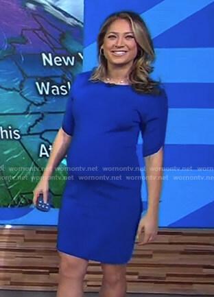 Ginger's blue short sleeve dress on Good Morning America