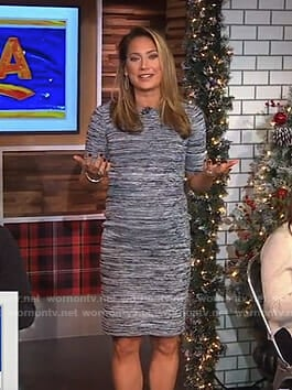Ginger's space dye short sleeve dress on Good Morning America