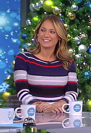 Ginger's striped maternity dress on The View
