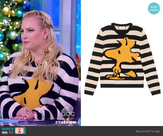 Striped Woodstock Sweater by Gucci worn by Meghan McCain on The View