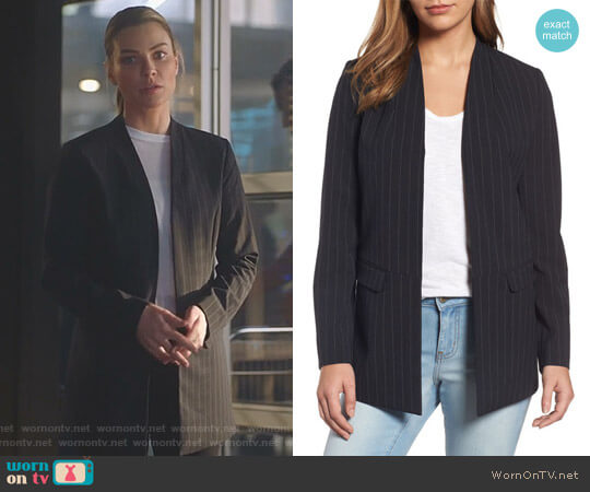Lucifer Boo Normal: WornOnTV: Chloe's Black Pinstripe Open Blazer On Lucifer
