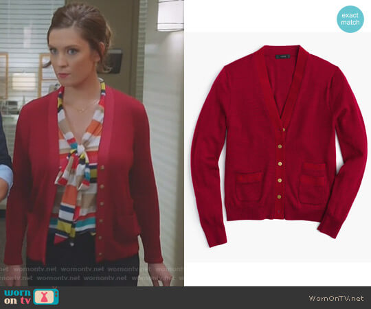 'Harlow' Cardigan by J. Crew worn by Katherine Wendelson (Briga Heelan) on Great News