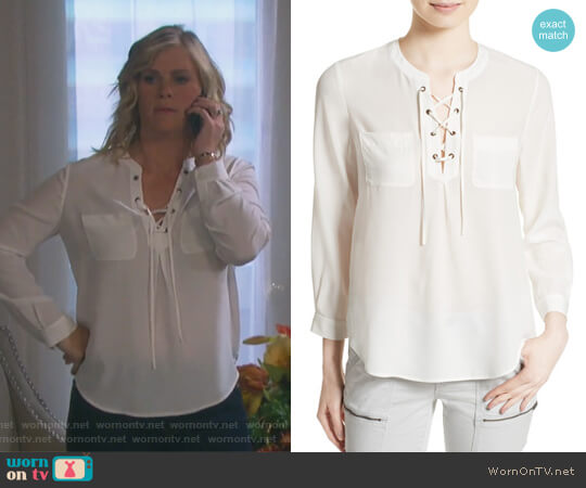 Bertine Silk Blouse by Joie worn by Alison Sweeney on Days of our Lives