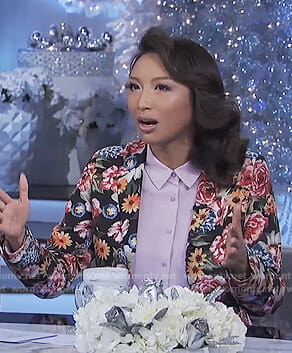 Jeannie's black floral blazer on The Real