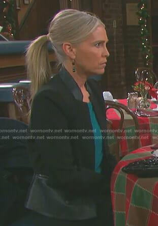 Jennifer's black peplum jacket on Days of our Lives