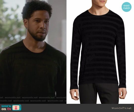 Long-Sleeve Patterned Top by John Varvatos worn by Jussie Smollett on Empire