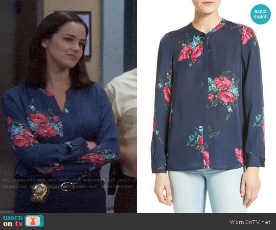 Joie Devitri Blouse worn by Melissa Fumero on Brooklyn Nine-Nine