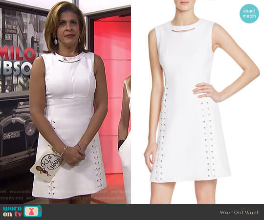 Lace-Up Detail Piqué Dress by Karen Millen worn by Hoda Kotb on Today