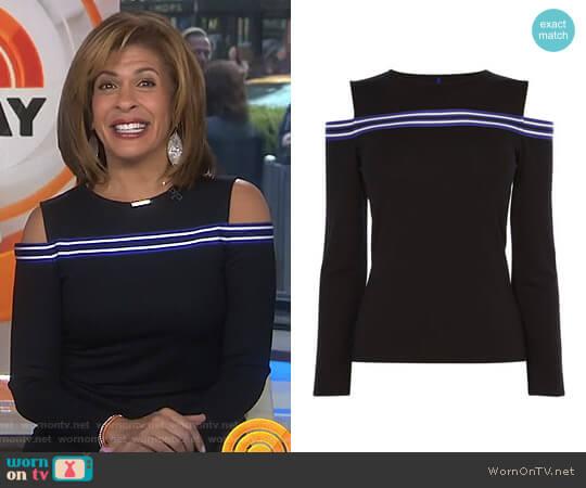 Cold Shoulder Jersey Top by Karen Millen worn by Hoda Kotb on Today