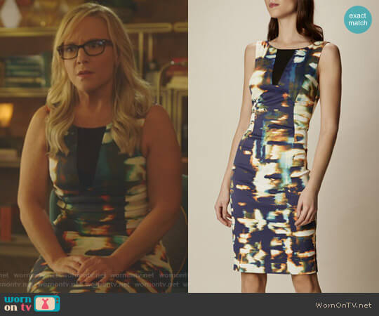Lucifer Boo Normal: WornOnTV: Linda's Printed Sheath Dress On Lucifer