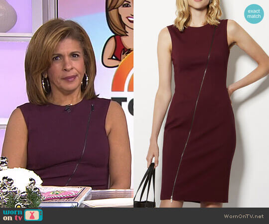 Zip Front Pencil Dress by Karen Millen worn by Hoda Kotb on Today