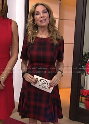 Kathie's red plaid dress on Today