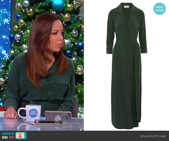Cameron washed-silk shirt dress by L'Agence worn by Sunny Hostin on The View