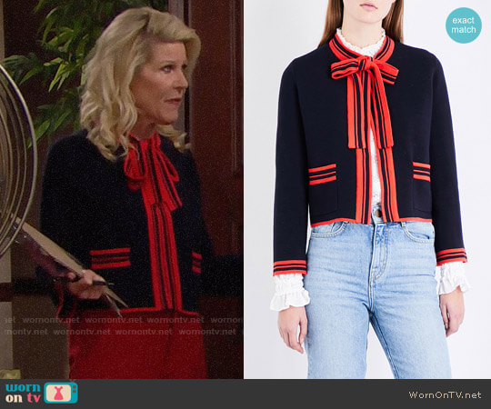 Maje Mong Cardigan worn by Alley Mills on The Bold & the Beautiful
