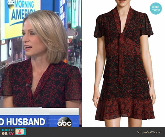 Star Mix A-Line Dress by MICHAEL Michael Kors worn by Amy Robach on Good Morning America
