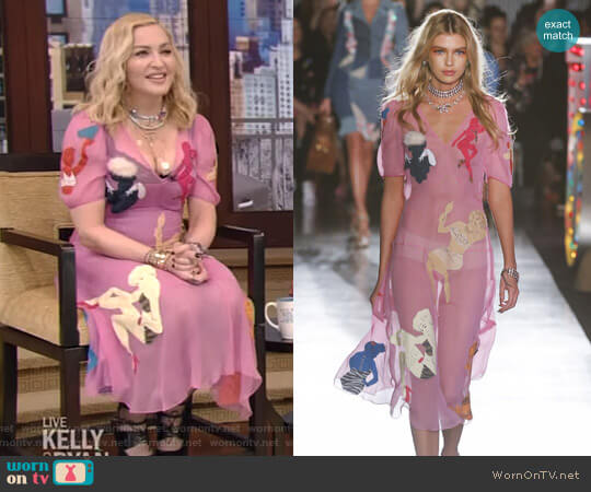 3/4 Length Dress by Moschino worn by Madonna on Live with Kelly and Ryan