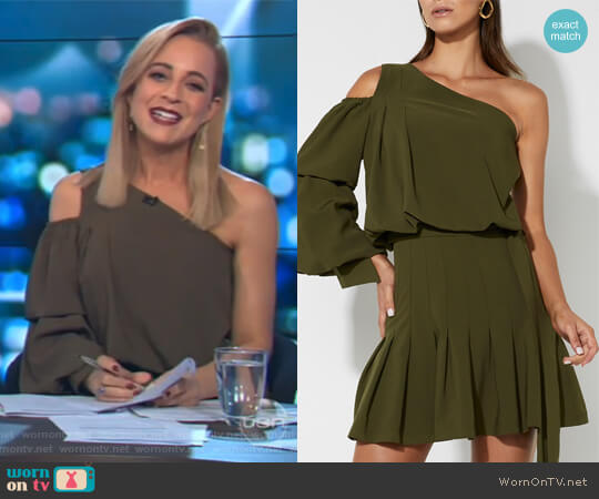 The Self Centred Dress by Mossman worn by Carrie Bickmore  on The Project