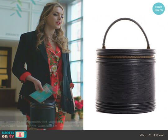 Noir Epi Cannes by Louis Vuitton worn by Elizabeth Gillies on Dynasty