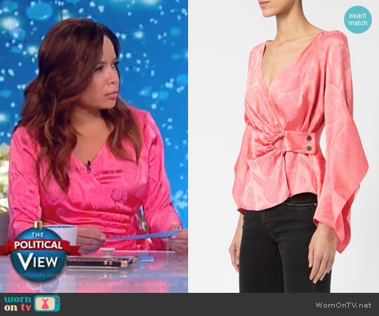 Wrap Front Blouse by Peter Pilotto worn by Sunny Hostin  on The View