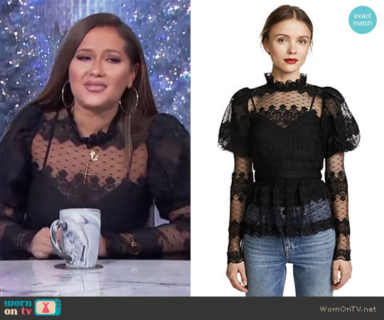Mariana Blouse by Parker worn by Adrienne Houghton on The Real
