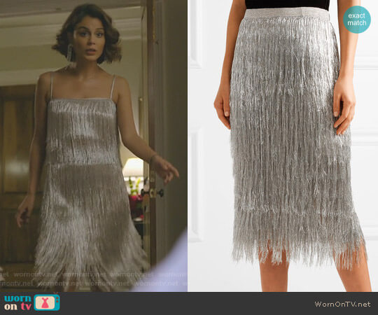 'Delilah' Skirt by Rachel Zoe worn by Nathalie Kelley on Dynasty
