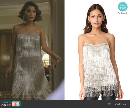 'Wick' Top by Rachel Zoe worn by Nathalie Kelley on Dynasty