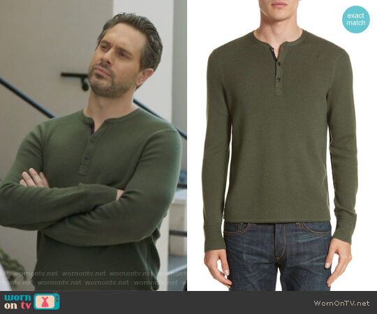Gregory Merino Wool Blend Henley by Rag and Bone worn by Thomas Sadoski on Life in Pieces