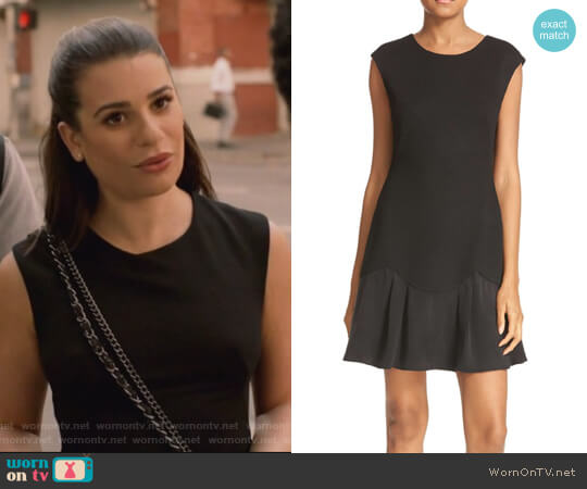 Stacy Drop Waist Dress by Rebecca Taylor worn by Lea Michele on The Mayor